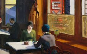 1929  Edward Hopper.  'Chop Suey'. Oil on canvas.