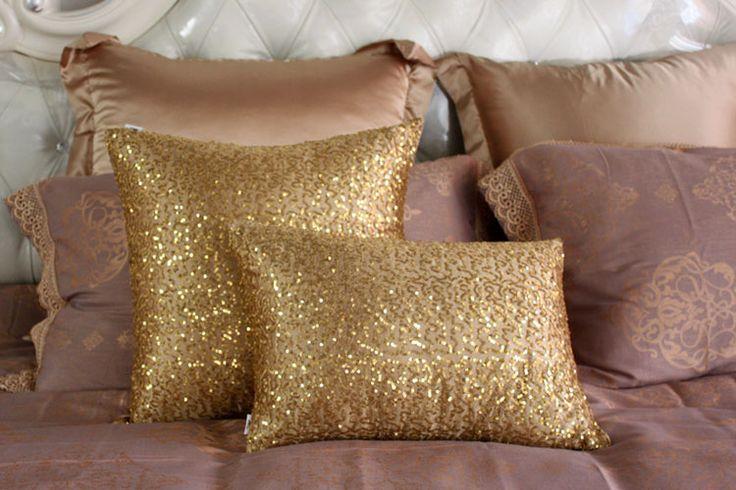 Новое поступление золото блестка роскошный диван подушки установить на упаковке диван кровать спинки WIN4135 купить на AliExpress