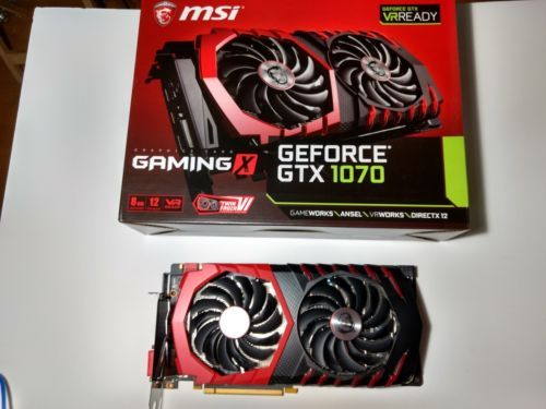 Msi Geforce Gtx 1070 Directx 12 Gtx Gaming 8gb Video Card Box Great Condition Graphic Card Nvidia Computer Hardware