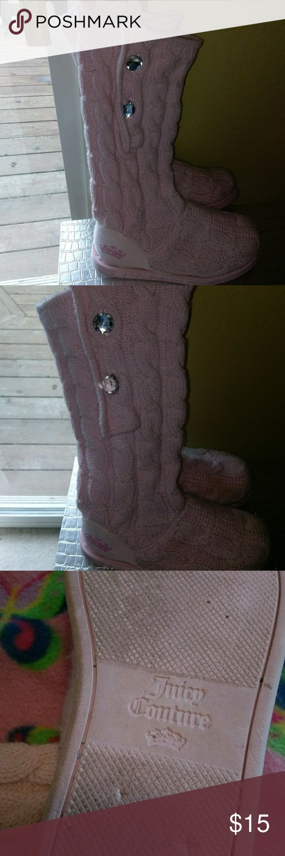 Juicy Couture Boots Juicy Couture winter boots. Worn many times but still in great condition. No ware really. Super cute for winter! Juicy Couture Shoes