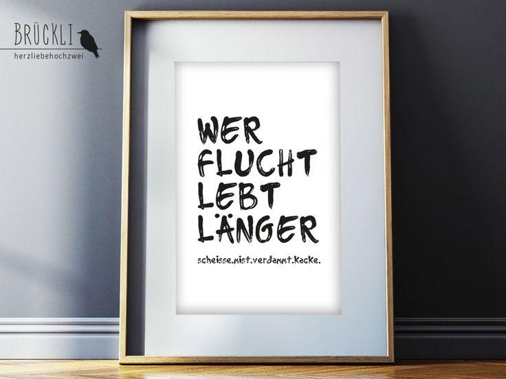 Beautiful A Kunstdruck Wandbild Print Poster Hausordnung Familienregeln Familienordnung Fluchen