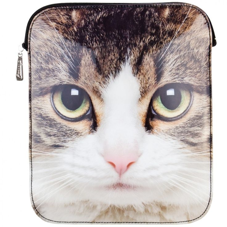 Tabby Cat Large Face iPad Sleeve