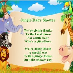 Jungle Baby Shower Poems