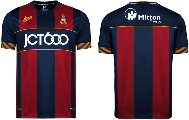 Camisas do Bradford City 2017-2018 Avec Sports   Mantos do Futebol Camisas de Futebol