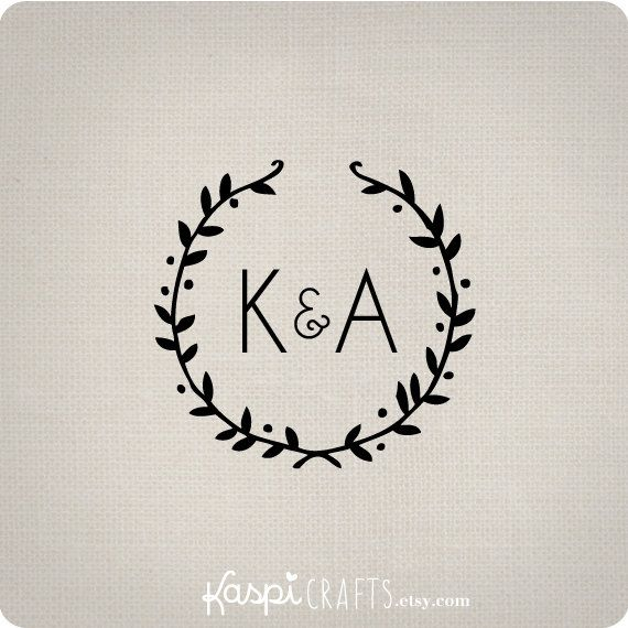 Rustic monogram printable monogram custom wedding by KaspiCrafts, $8.00