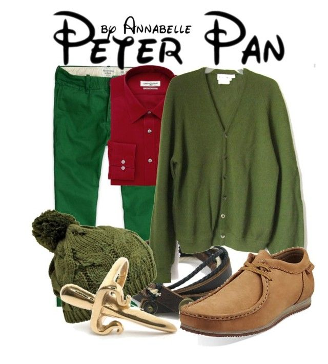 """Peter Pan"" by annabelle-95 ❤ liked on Polyvore featuring Abercrombie & Fitch, Joseph Abboud, LeiVanKash, men's fashion and menswear"