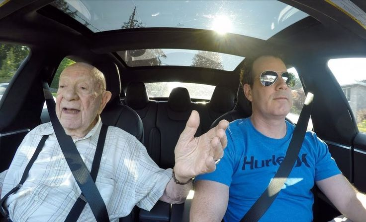 97 Year Old Grandpa in a Tesla