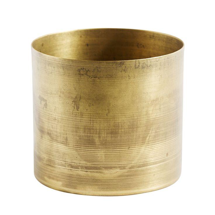 Stine Pot, Brass $34. - RoyalDesign.com