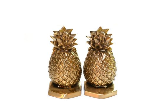 Hey, I found this really awesome Etsy listing at https://www.etsy.com/listing/259776201/pineapple-bookends-brass-bookends-pm