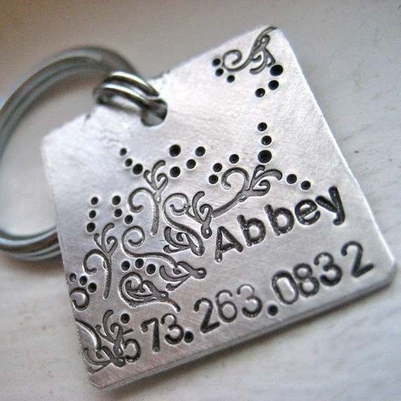 The Abbey Tag  personalized pet id tag by makeyourdogsmile on Etsy, $18.00