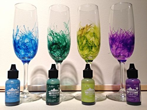 Alcohol Ink wine glasses. GREAT INSTRUCTIONS