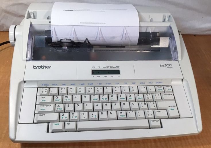 Brother ML-300 Electronic Dictionary Portable Typewriter w/Display Multi-Lingual #Brother