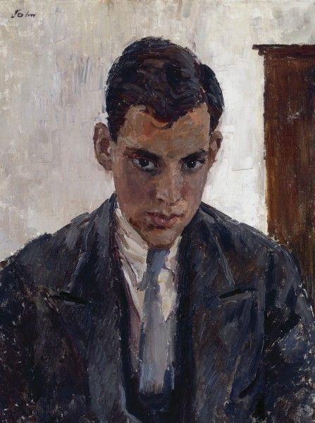 Augustus John (British, 1878-1961), Portrait of a Young Man, c. 1928. Oil on…