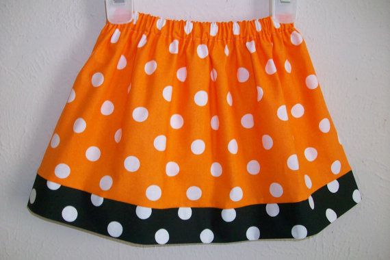 Girls Skirt Polka Dot Skirt Orange and Black OSU Game Day Skirt Halloween Skirt toddler skirt Fall Skirt Autumn Halloween Dress Kids Clothes by lilsweetieboutique on Etsy.