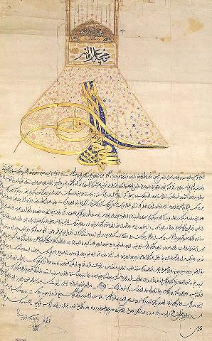 Ferman of Sultan Ahmed III-1726