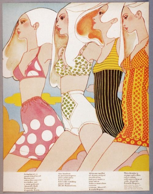Lingerie illustration from McCall's, 1967. Scanned from Psychedelic Chic