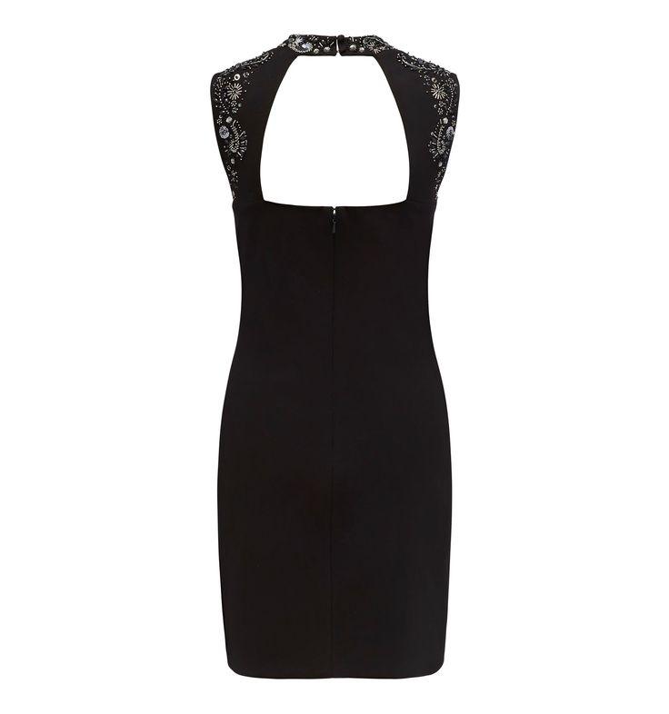 Emily embellished high neck dress Black - Womens Fashion | Forever New