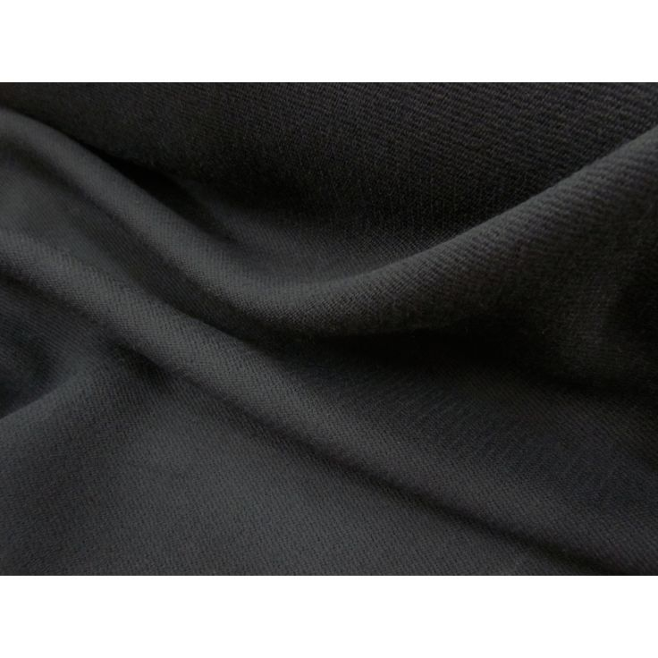 Black Textured Wool Coating  Wool. $14.95 per metre  The Remnant Warehouse