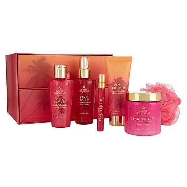 d085a1025ed Superdrug Scent Boutique Pink Tropic Bath & Body Draw Set - £20. Be forever  in a Pink Tropic with this Gift Set full of tropical treats, scented with  notes ...