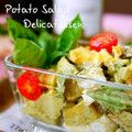 デリ風♪バジルソースでポテトサラダ  Potato Salad with Basil Sauce