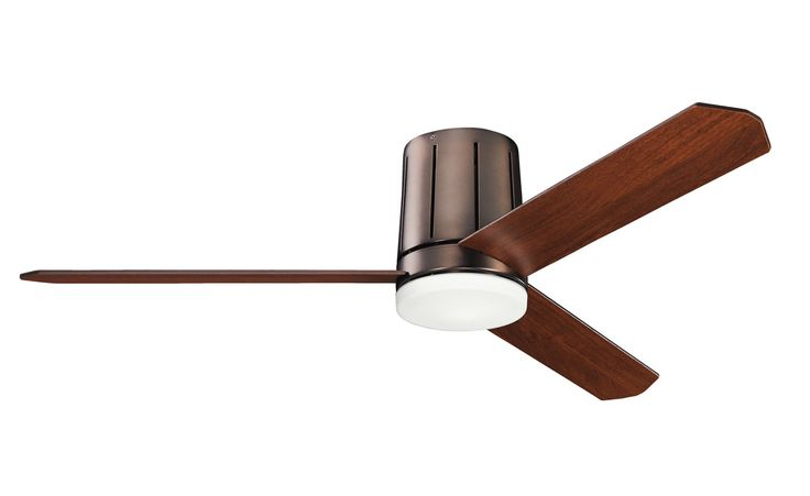 "View the Kichler 300151OBB Oil Brushed Bronze Innes 52"" Indoor Flush Mount Ceiling Fan with 3 Blades - Includes CoolTouch Remote and Light Kit at Build.com."