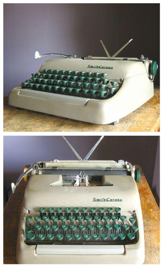 Vintage 1950s Smith Corona Sterling Manual Typewriter   $82