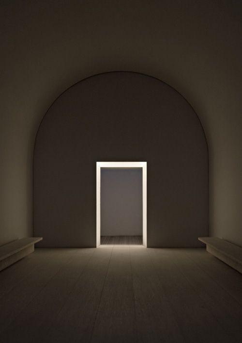 Solitary door, illuminated
