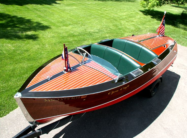 1938 Chris Craft Wooden Runabout Boat | Chris Craft wooden boat in excellent condition with new decks, new ...