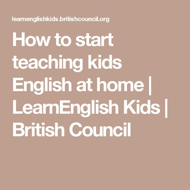 How to start teaching kids English at home | LearnEnglish Kids | British Council