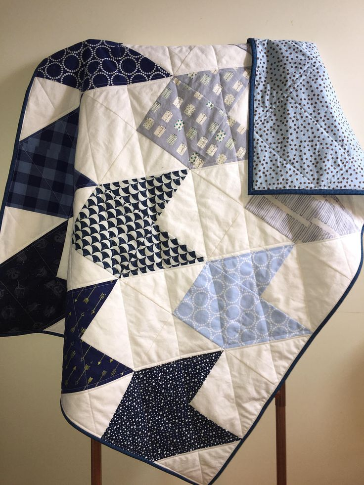 Modern Baby Quilt, Baby Boy, Patchwork, Nursery, Baby Shower Gift, Bedding, Quilted Baby Blanket, Play Mat, Ready to Ship by BlackKittenQuiltShop on Etsy https://www.etsy.com/ca/listing/508606498/modern-baby-quilt-baby-boy-patchwork