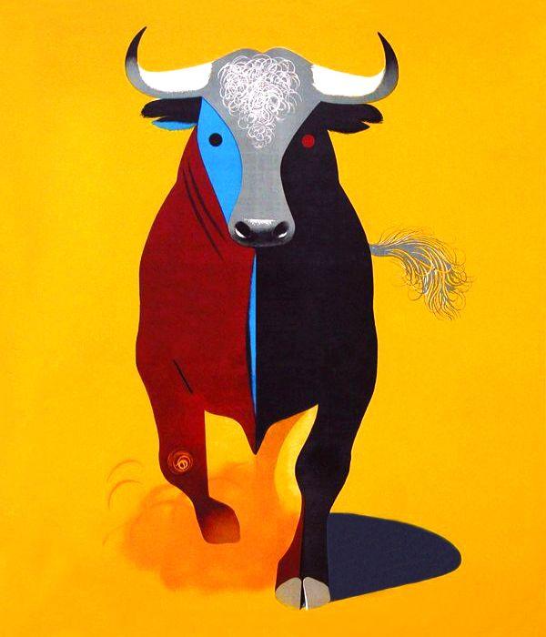 Manolo Prieto. Dibujo para cartel taurino. Benfecencia de Madrid. 1958