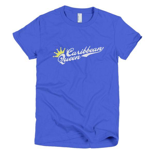 Bon Bon Vie Caribbean Queen T-Shirt Royal Blue