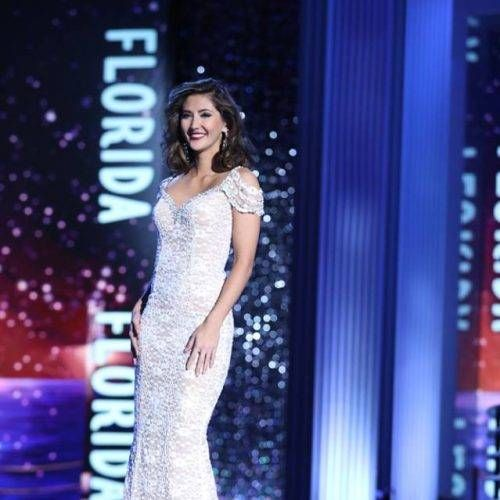 Miss Florida 2017 Sara Zeng competes during the evening gown competition at Miss America 2018. Photo: Miss America Organization