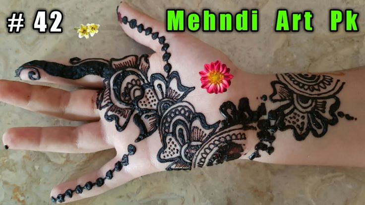 Henna Tattoo Tutorial : Arabic henna tutorial gulf style tattoo