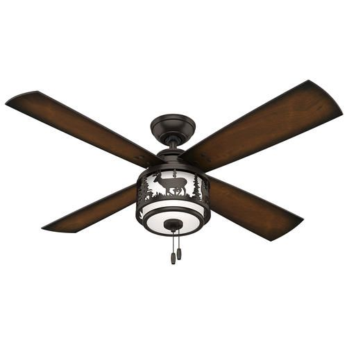 Hunter Cedar Ridge 52 Premier Bronze Ceiling Fan With: 17 Best Images About Hunting Lodge Living Room On