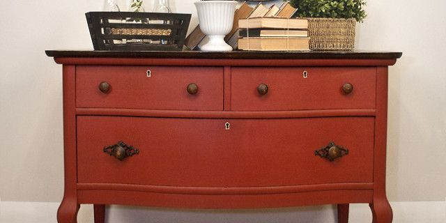 Moulin Rouge – The Pros and Cons of Painting Salvaged Furniture