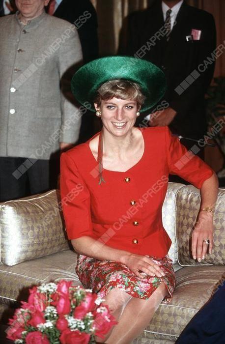 February 10 1992 Princess Diana at Rashtrapati Bhavan, New Delhi