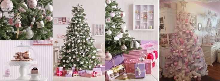 albero natale decorazioni natalizie rosa