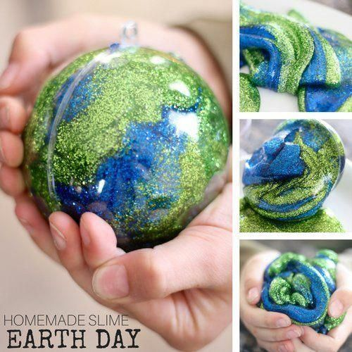 Learn how to make Earth Day slime this spring. Our homemade slime recipe is perf… – Love The Earth Everyday
