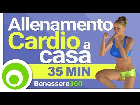 Allenamento Cardio Brucia Grassi - Esercizi Aerobici per Dimagrire a Casa - YouTube