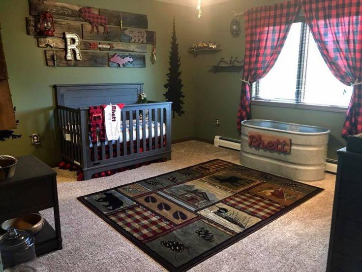 Rustic baby boy nursery rooms design ideas (19)