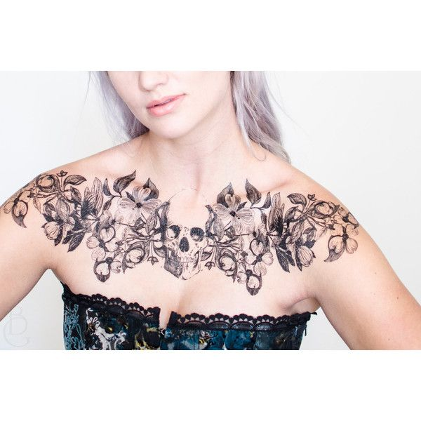 Dogwood Never Dies Temporary Tattoo ($27) ❤ liked on Polyvore featuring accessories and body art
