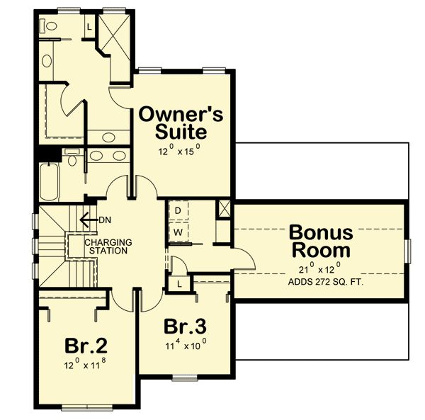 627 best floor plans four images on pinterest floor for Craftsman house plans with bonus room