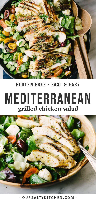 mediterranean diet chicken salad recipe fast and easy
