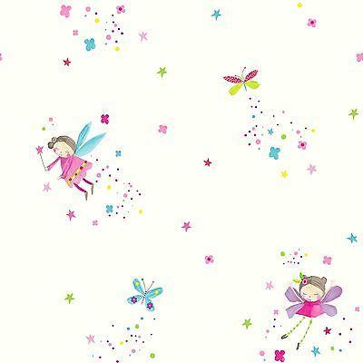 Carta da Parati Glitter di polvere di fata-bianco-Arthouse 667101