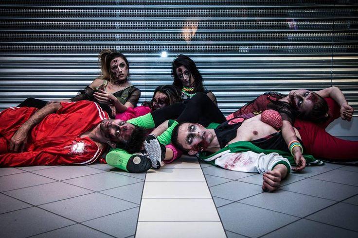 Zombie || Szkoła Wizażu i Charakteryzacji SWiCh - charakteryzacja zombie podczas #callofduty || Fot.: Anita Kot || #zombie #makeup #makeupschool #szkoławizażu
