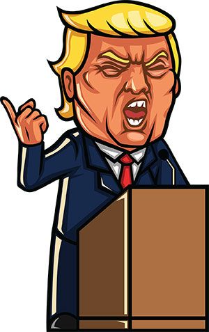 Image of: Stephen Colbert Trump Yelling During Speech trump This Cartoon Is Free To Use With Attribution Depositphotos 18 Free Donald Trump Clipart Cartoons