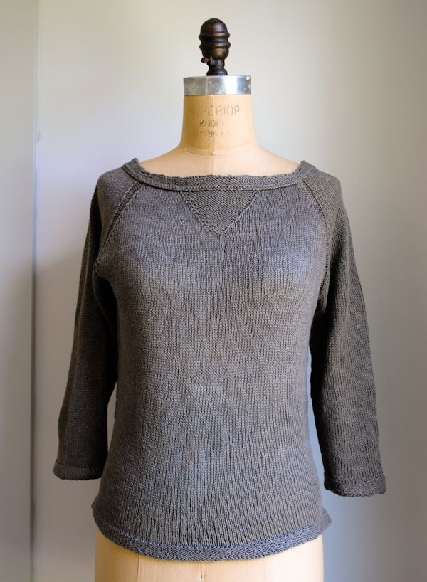 Linen pullover from purl bee, I may have to do this as my next project
