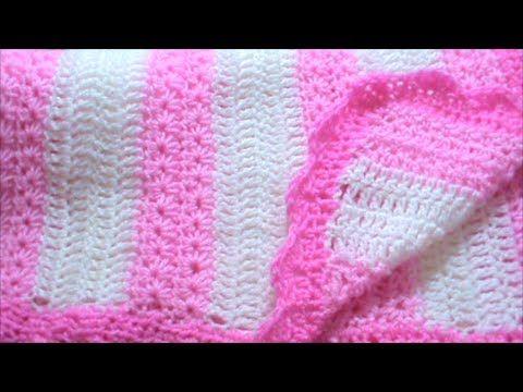 Πλεκτή κουβερτούλα με βελονάκι - YouTube