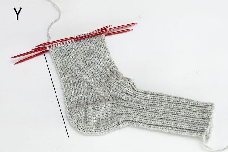 Beskrivning med bilder steg för steg hur man stickar sockor